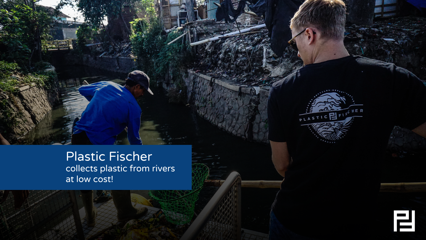 Plastic Fischer collects plastic from rivers at low cost