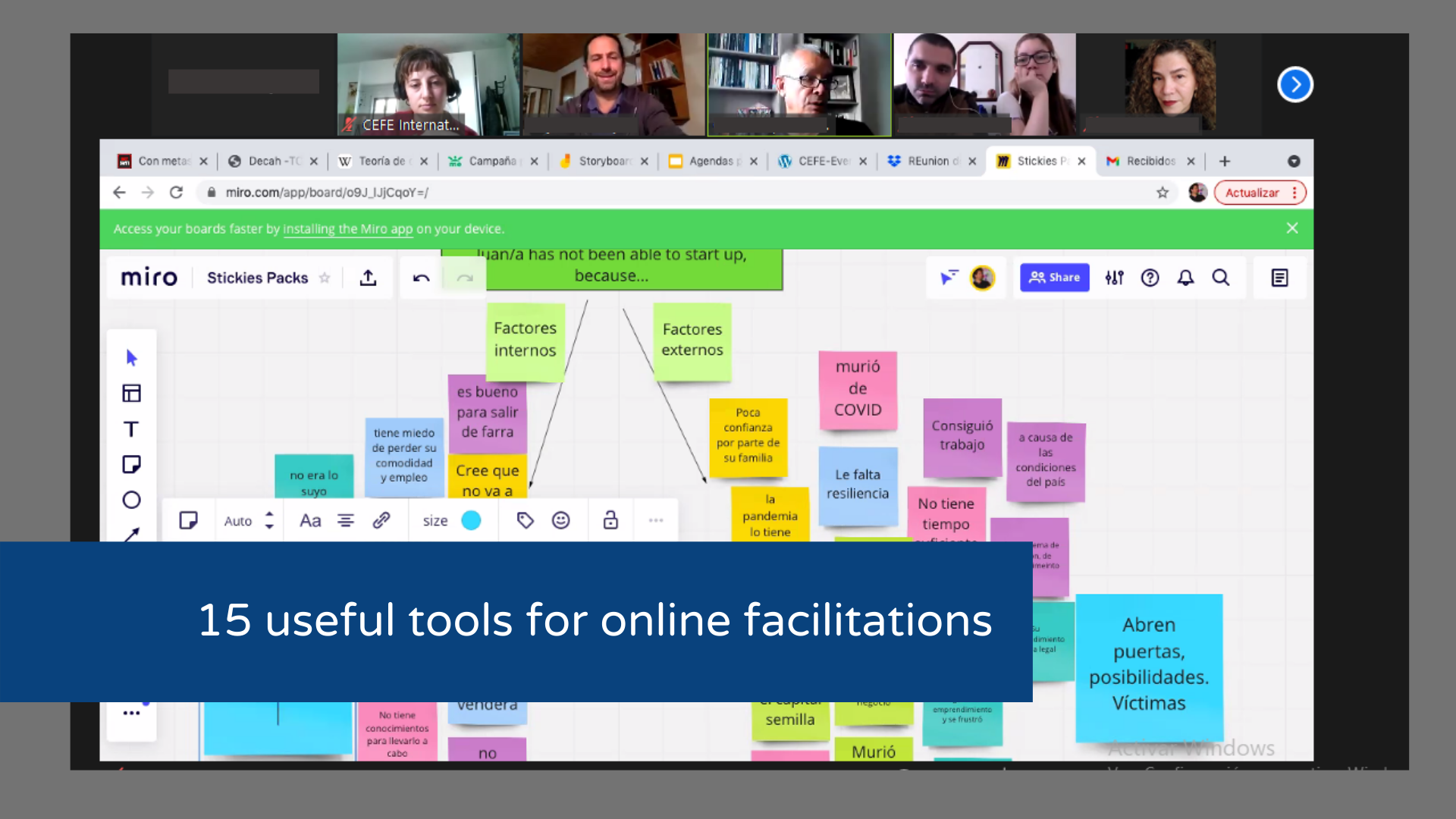 15 useful online tools for online facilitations
